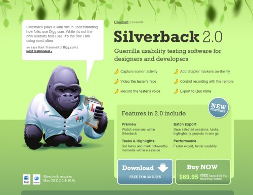 siilverbackapp 500x387 35 Beautiful Mac App Web Designs
