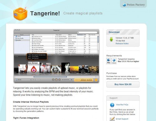 tangerine 500x387 35 Beautiful Mac App Web Designs