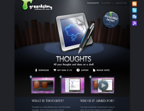 thoughtsapp 500x387 35 Beautiful Mac App Web Designs