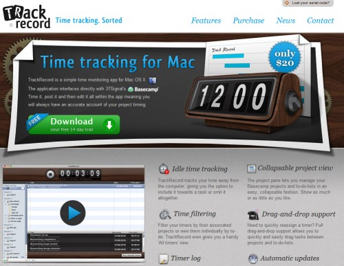 trackrecordapp 500x387 35 Beautiful Mac App Web Designs