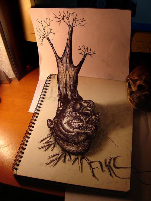 """إبدآع""""رسومآت مجسمة"""".. tree.jpg"""