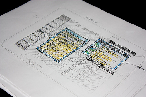 4691743792 99c2157bb11 25 Examples of Wireframes and Mockups Sketches