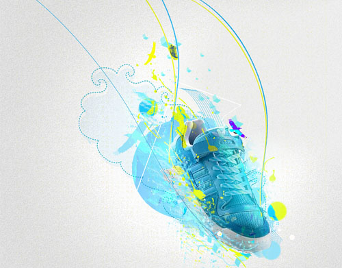 Fly with adidas 31 Spectacular Examples of Adidas Artworks & Commercials