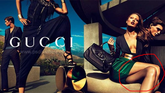 Gucci Mutant mutatis 30 Examples of Commercial Photoshop Disasters