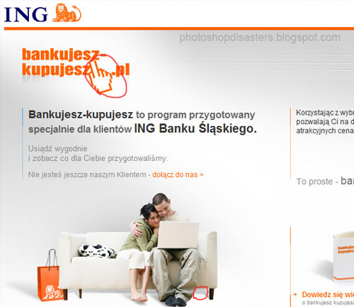ING The Frank Bank 30 Examples of Commercial Photoshop Disasters
