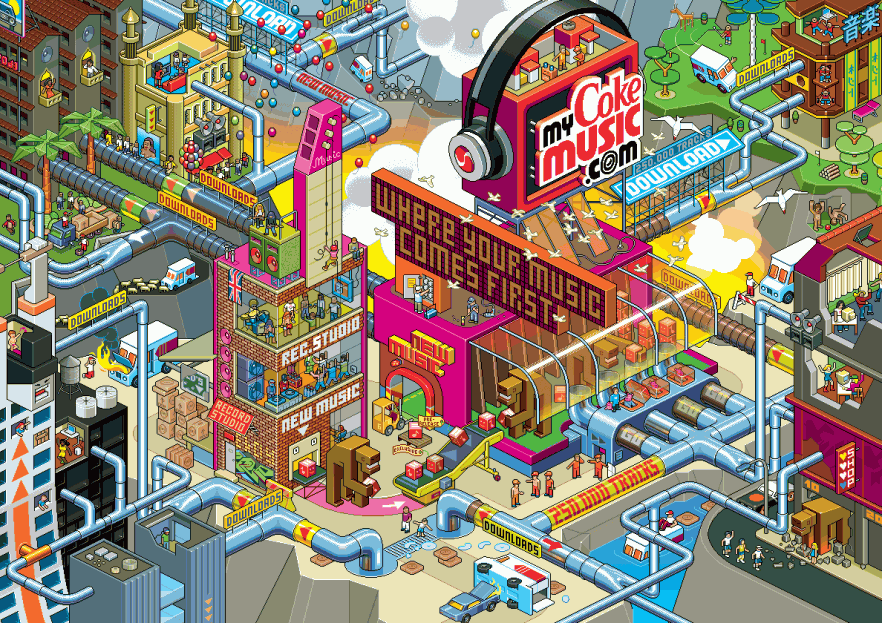 30 Dazzling Examples Of Pixel Art By Eboy Inspirationfeed