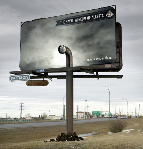 Naval Museum Alberta Billboard1 35 Creative Examples of Billboard Designs