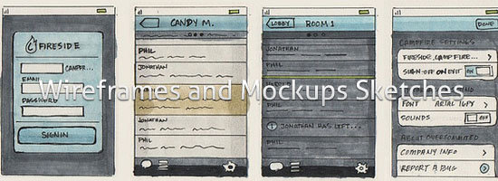 Wireframes and Mockups Sketches