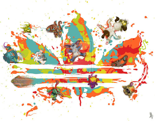 adidas version 1 31 Spectacular Examples of Adidas Artworks & Commercials
