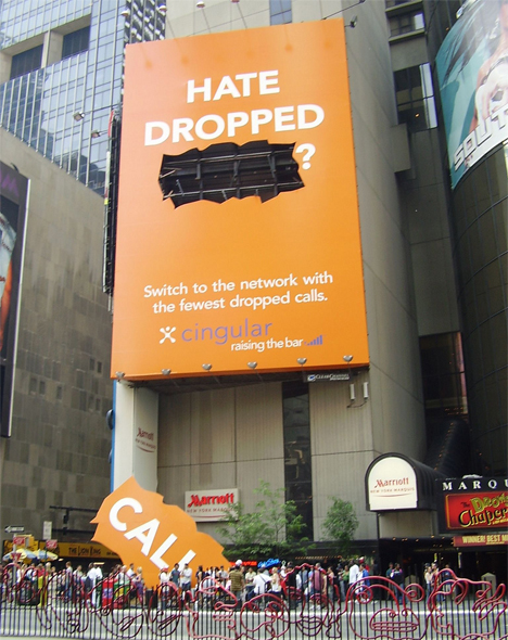 cingular dropped calls billboard1 35 Creative Examples of Billboard Designs