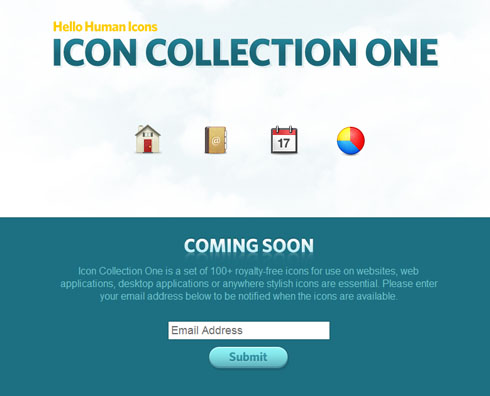hellohumanicons 40 Creative Coming Soon Pages & Wordpress Themes