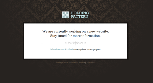 holding pattern wordpress theme1 40 Creative Coming Soon Pages & Wordpress Themes
