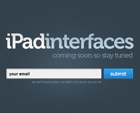 ipadinterfaces 40 Creative Coming Soon Pages & Wordpress Themes