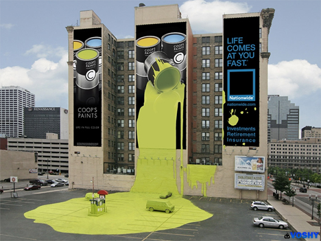 nationwide paint billboard1 35 Creative Examples of Billboard Designs