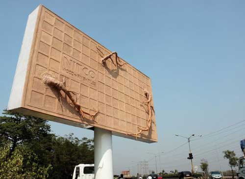 nitcoROOTS creative billboard1 35 Creative Examples of Billboard Designs