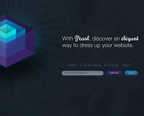 peaxl 40 Creative Coming Soon Pages & Wordpress Themes