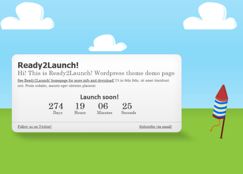 ready2launch wordpress theme1 40 Creative Coming Soon Pages & Wordpress Themes