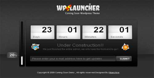 wp launcher wordpress theme e12960702033471 40 Creative Coming Soon Pages & Wordpress Themes