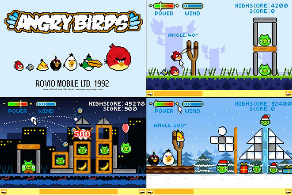 15 Retro Best of Angry Birds1 30 Amazing Fan Inspired Angry Bird Artworks