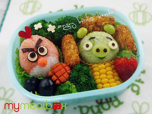 7 Angry Birds Bento Box Best of Angry Birds1 30 Amazing Fan Inspired Angry Bird Artworks