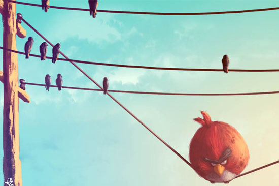 30 Amazing Fan Inspired Angry Bird Artworks » Design You Trust – Social design inspiration!
