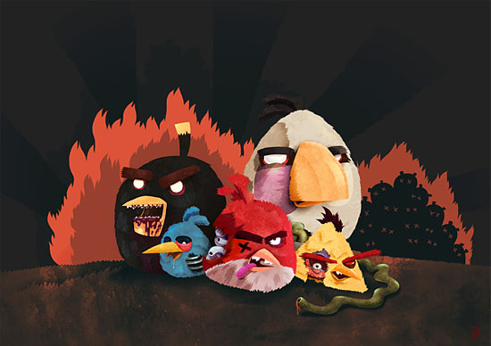 Angry Zombie Birds 30 Amazing Fan Inspired Angry Bird Artworks