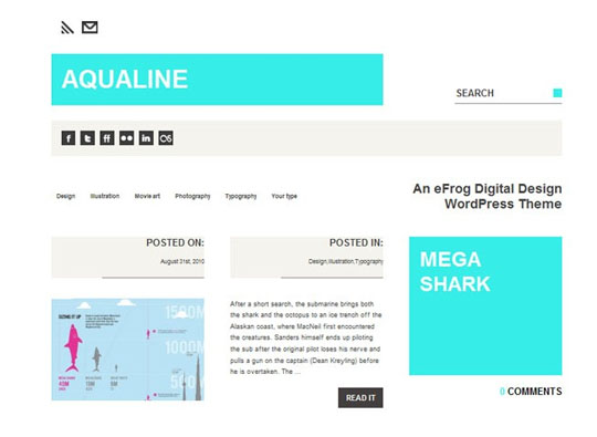 Aqualine 35 Free Clean and Useful Minimal Wordpress Themes