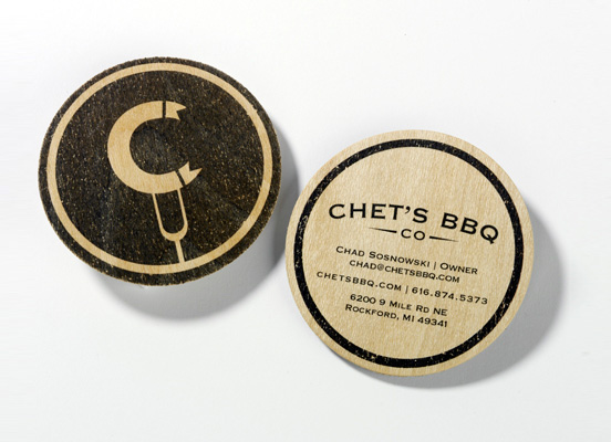 Chets BBQ ID business card l1 45 Fresh New Business Card Designs