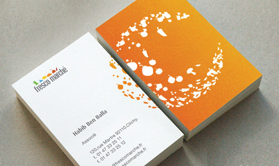 Fresco Marche business card l1 45 Fresh New Business Card Designs