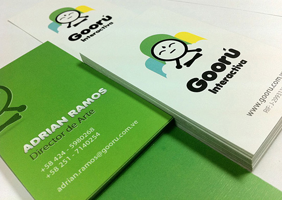 Gooru Interactiva Business Card l1 45 Fresh New Business Card Designs