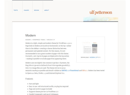 Modern 35 Free Clean and Useful Minimal Wordpress Themes