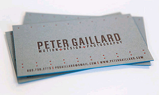 Peter Gaillard business card l1 45 Fresh New Business Card Designs