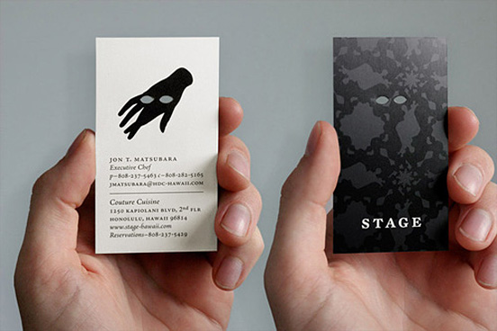 Stage Business Card l1 45 Fresh New Business Card Designs