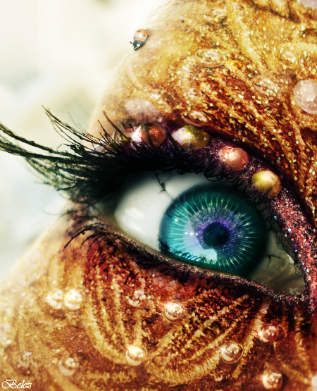 The Golden Fairy s Eye by belez1 20 Beautiful Macro Photos of the Human Eye