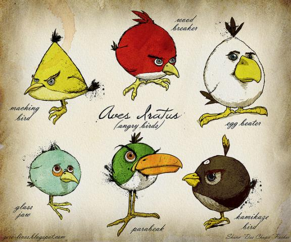 angry birds game collection angry birds graphical documentation1 30 Amazing Fan Inspired Angry Bird Artworks