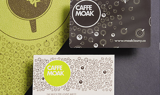 caffe moak business card l1 45 Fresh New Business Card Designs