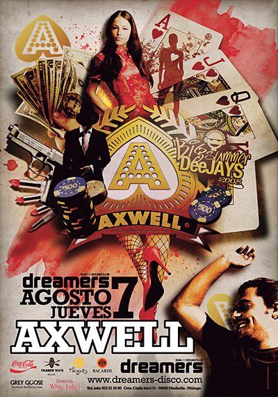 cartel dreamers deejay axwell1 25 Beautiful Flyer Design Inspirations