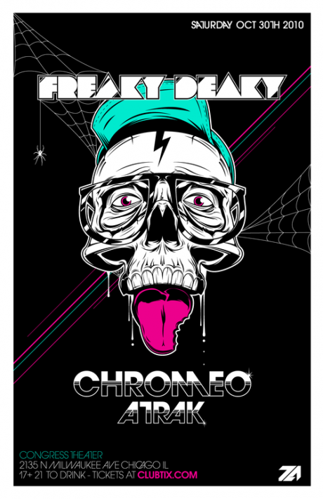 chromeo1 25 Beautiful Flyer Design Inspirations