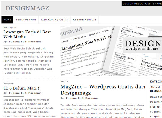 designmagz 35 Free Clean and Useful Minimal Wordpress Themes