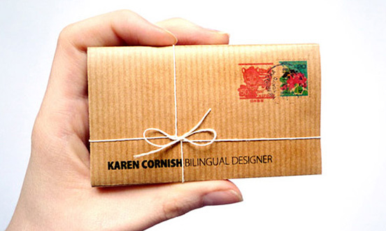 karen cornish business card l1 45 Fresh New Business Card Designs