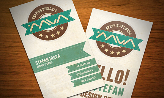 stefan irava business card l1 45 Fresh New Business Card Designs