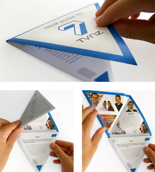 triangularfoldingbrochure101 25 Incredible Examples of Brochure and Catalog Design