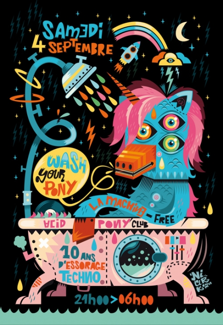 washyourpony1 25 Beautiful Flyer Design Inspirations