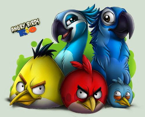 10 Angry Birds Rio1 30 Amazing Fan Inspired Angry Bird Artworks