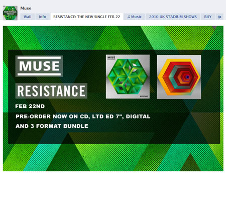 100209 muse1 40 Facebook Fan Page Designs and Practices
