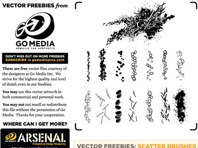 14 Scatter Brushes 50 Beautiful Free Adobe Illustrator Vector Brushes