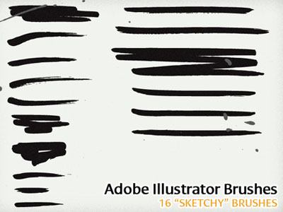 "16 ""Sketchy"" Illustrator Brushes 50 Beautiful Free Adobe Illustrator Vector Brushes"