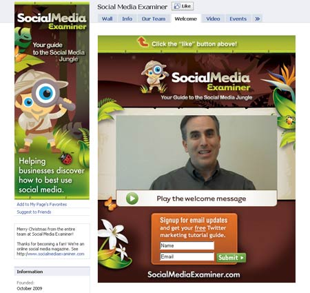 20101213 socialmediaexaminer1 40 Facebook Fan Page Designs and Practices
