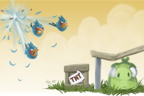 3 These birds want bacon1 30 Amazing Fan Inspired Angry Bird Artworks