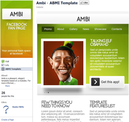 AMBI 40 Facebook Fan Page Designs and Practices